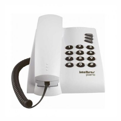 Telefone com fio Pleno Branco S/ Chave