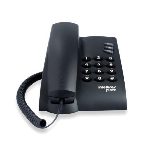 Telefone com fio Pleno Preto S/ Chave
