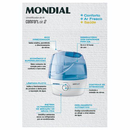 Umidificador de Ar  NUA-02  - Branco/Azul -  Bivolt