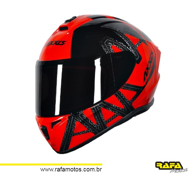 CAPACETE AXXIS DRAKEN DEKERS GLOSS RED/BLACK