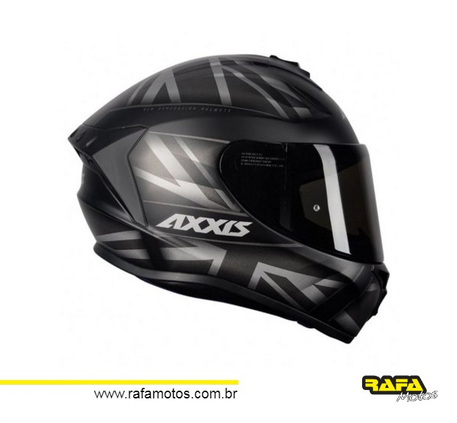 CAPACETE AXXIS DRAKEN UK MATT BLACK/GREY
