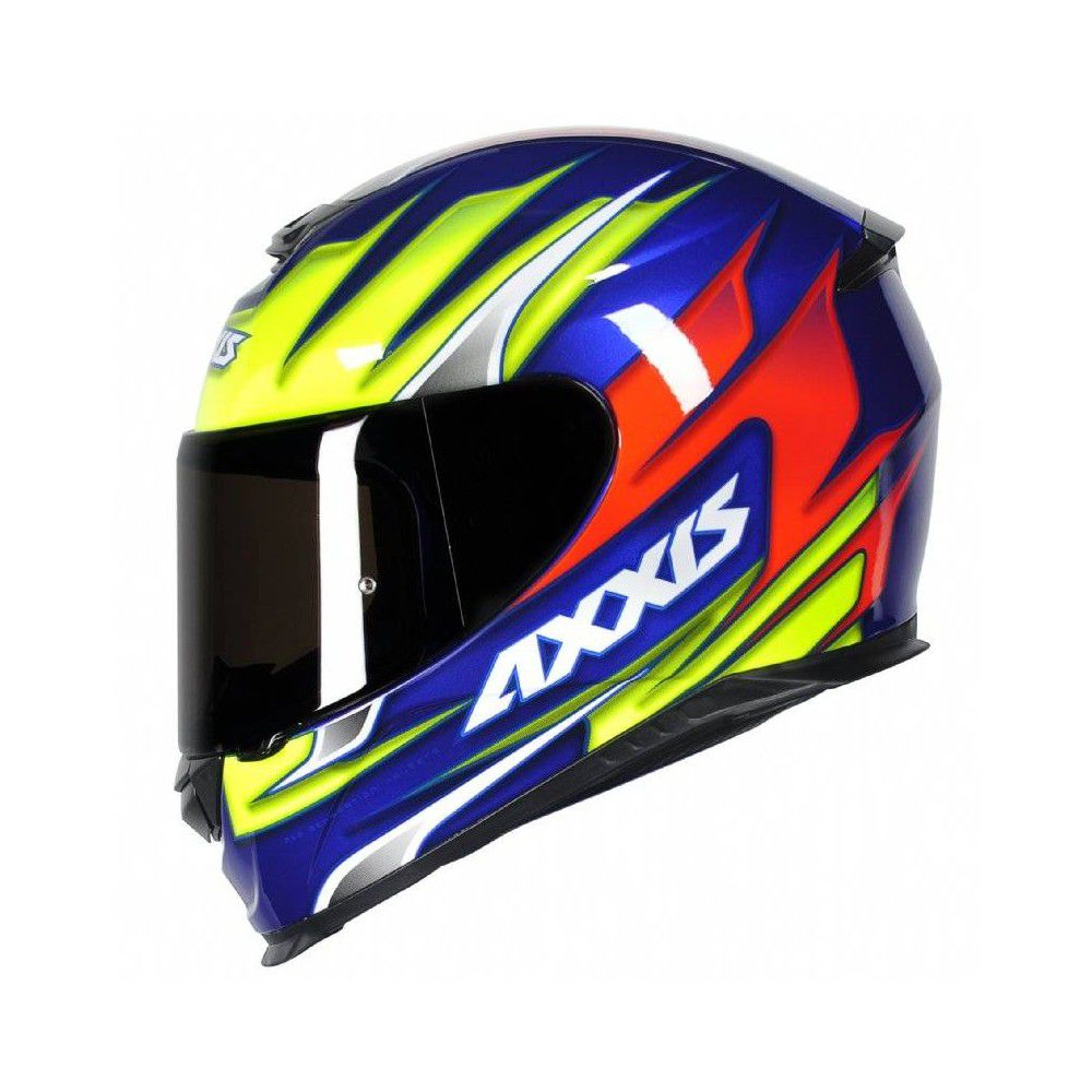 CAPACETE AXXIS EAGLE SPEED BLUE/YELLOW