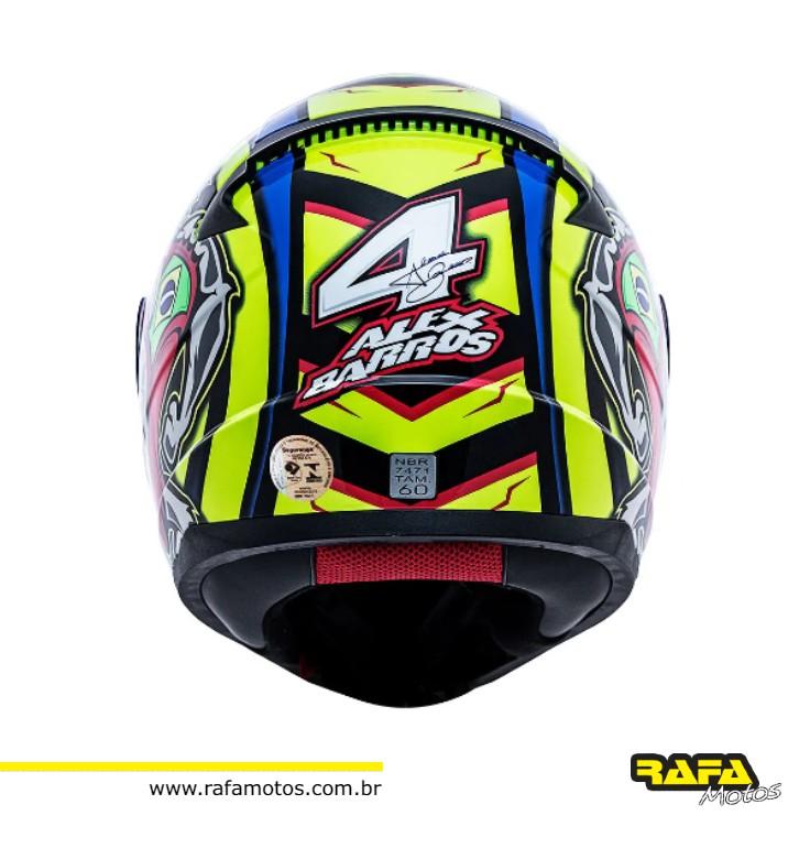 CAPACETE FF353 ALEX BARROS - MODELO NOVO