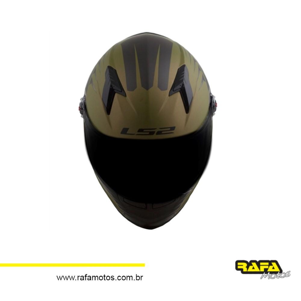 CAPACETE LS2 FF358 AIR FIGHTER - VERDE FOSCO
