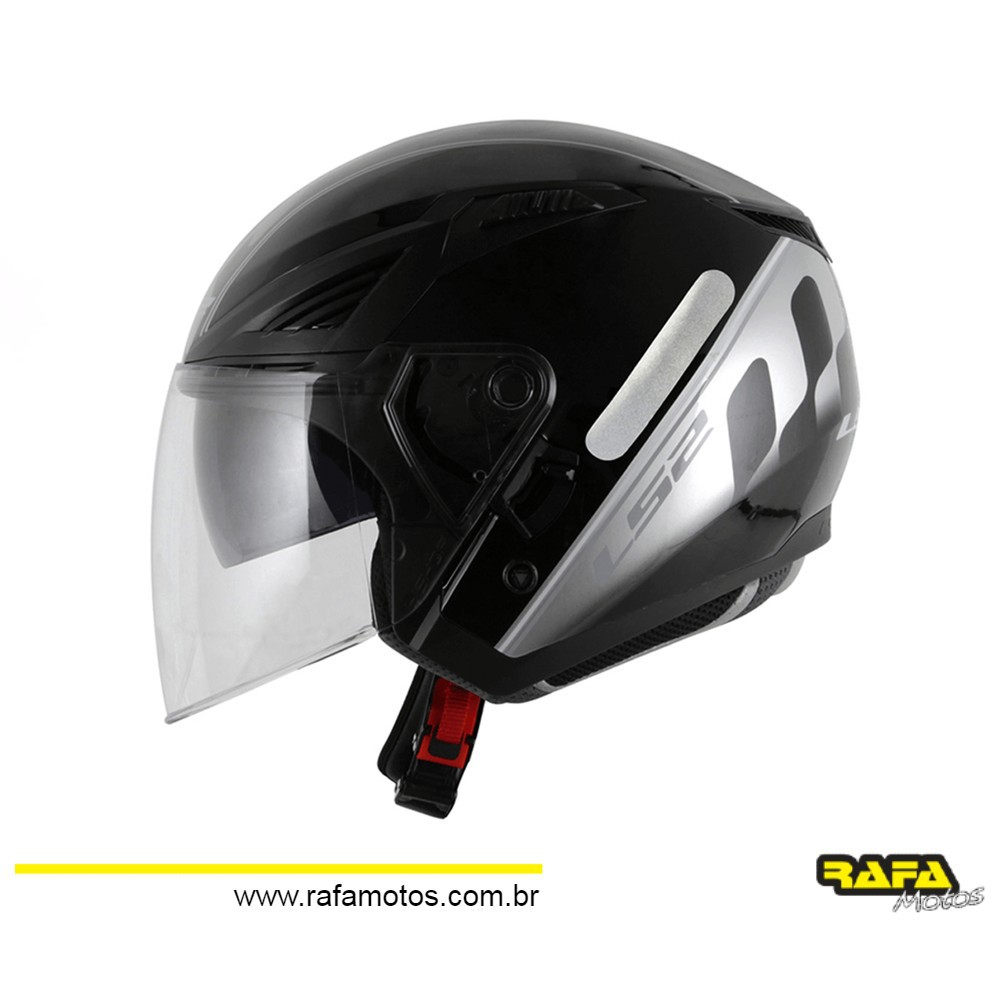 CAPACETE LS2 OF586 BISHOP ATOM PRETO/CINZA