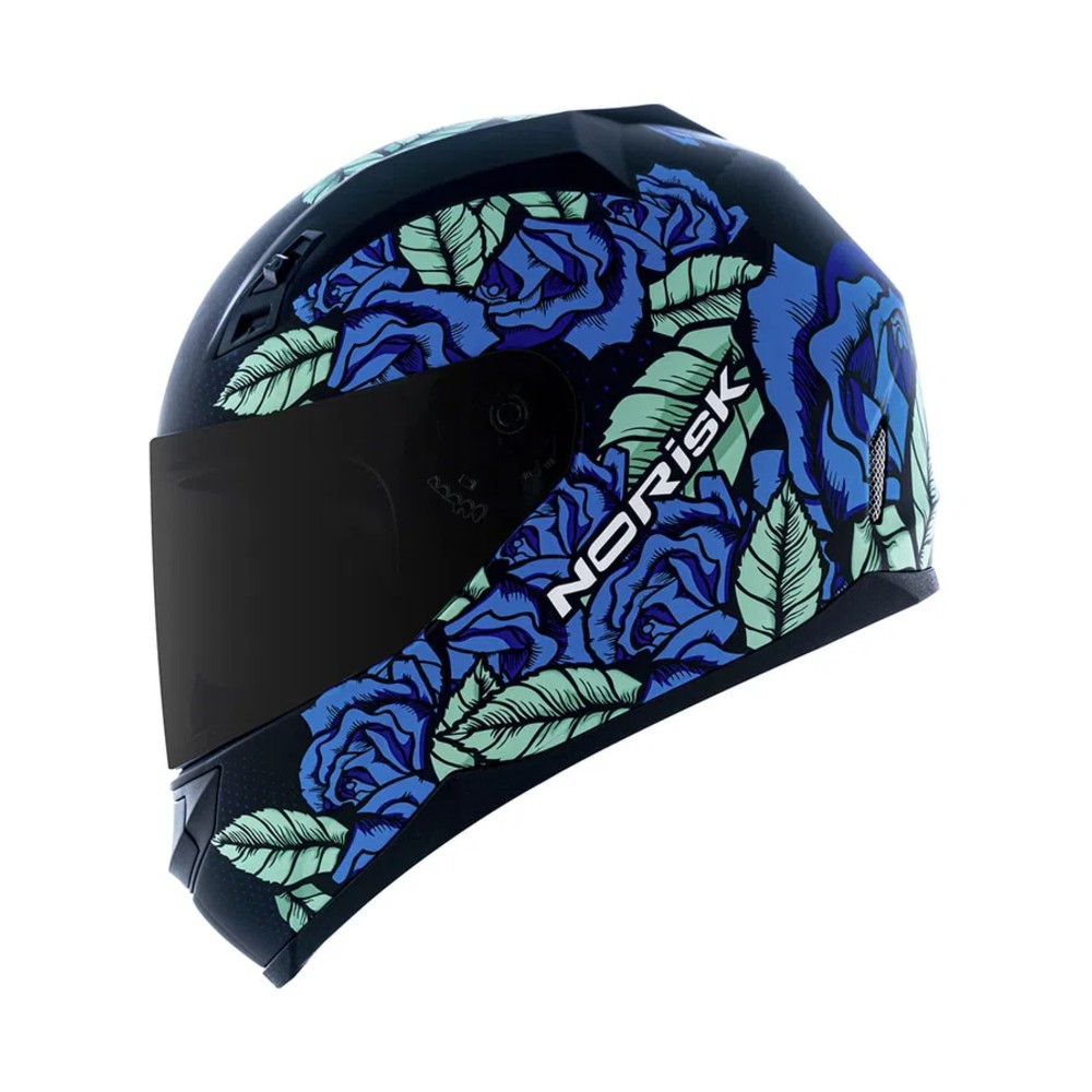 CAPACETE NORISK FF391 BED OF ROSES AZUL