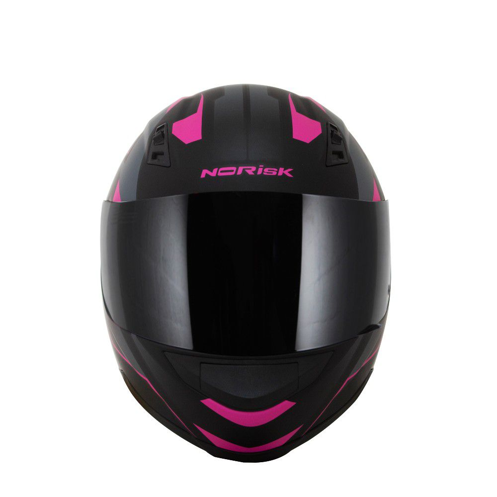 CAPACETE NORISK FF391 STRIPES BLACK PINK