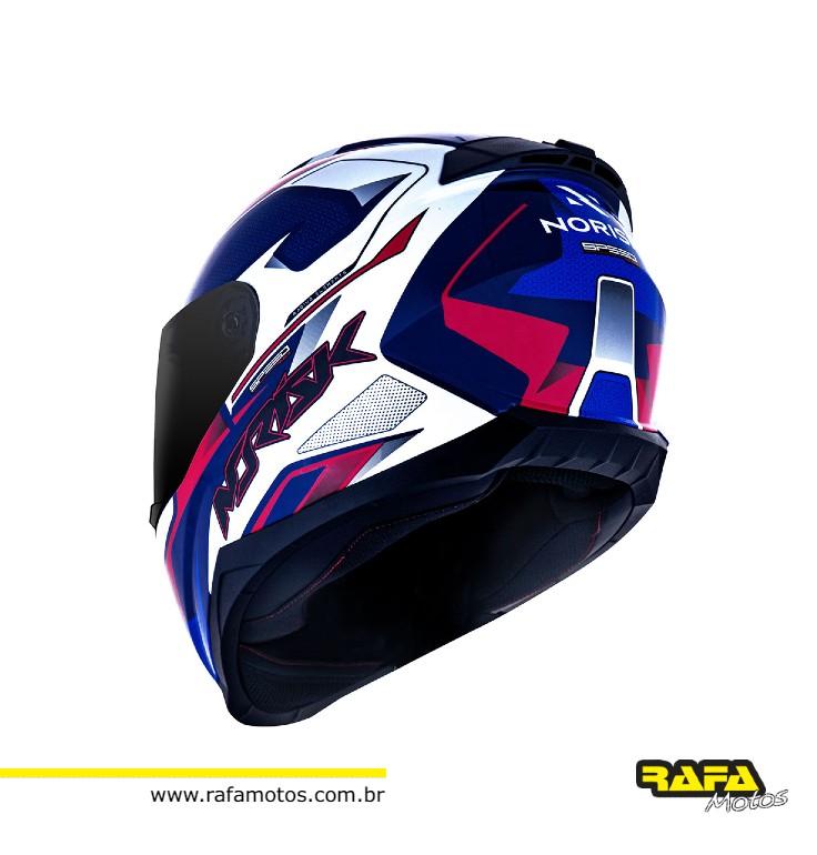 CAPACETE RAZOR SPEED MAX BLUE WHT RED