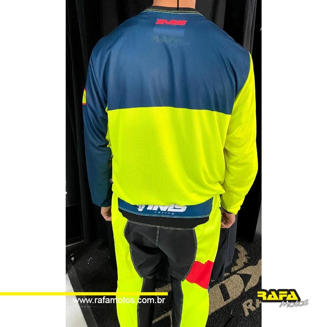 Conjunto Calça + Camisa Ims Trilha Motocross Army