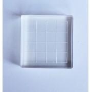 Base Acrílica 5x5 cm com grade