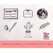 Carimbeira com Tinta Preta Premium - Lilipop Carimbos