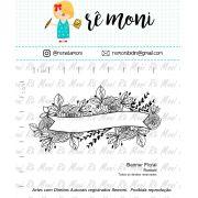 Carimbo Banner Floral - Remoni