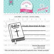 Carimbo Estudo Devocional - Scrapbook by Tamy
