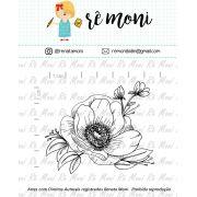 Carimbo - Flor Anêmona - Remoni