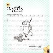 Carimbo It Girl Linha Planner - Brigadeiro + Café