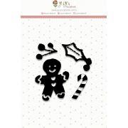 Carimbo mini - Mini Biscoitinho - Juju Scrapbook
