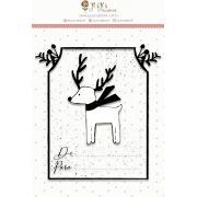 Carimbo  Presente de Natal  - Juju Scrapbook