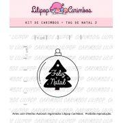 Carimbo Tag de Natal 2  LILIPOP CARIMBOS