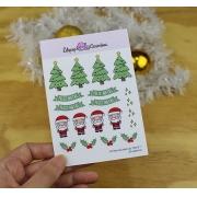 Cartela de adesivo - Natal 1