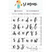 Kit de Carimbo - Alfabeto 3 Minúsculo (Remoni)