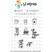 Kit de Carimbo - Amo Café