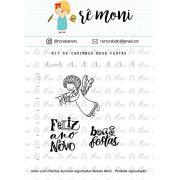 Kit de Carimbos - Boas Festas - Remoni