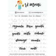 Kit de Carimbo - Dias da Semana
