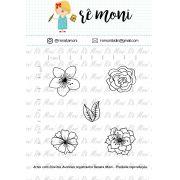 Kit de Carimbo - Flores Diversas