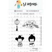 Kit de Carimbos - Kokeshi - Remoni