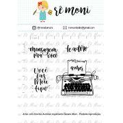 Kit de Carimbos - Mensagem para você!  - Remoni
