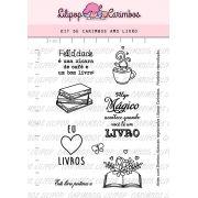 Kit de Carimbos - Amo Livro (LILIPOP CARIMBOS)