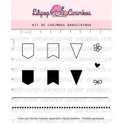 Kit de Carimbos - Bandeirinha (LILIPOP CARIMBOS)