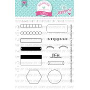 Kit de Carimbos -Bujo Planner Love - Scrapbook by Tamy