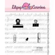 Kit  de Carimbos - Clipes  LILIPOP CARIMBOS