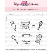 Kit de Carimbos - Confeitaria (LILIPOP CARIMBOS)