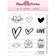 Kit  de Carimbos - Coração