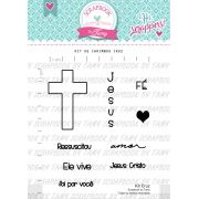 Kit de Carimbos - Cruz - Scrapbook by Tamy