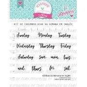 Kit de Carimbos - Dias da Semana em Inglês