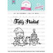 Kit de  Carimbos - Doll de Natal
