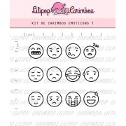 Kit de Carimbos - Emoticons 1 (LILIPOP CARIMBOS)