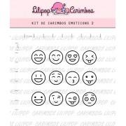 Kit de Carimbos - Emoticons 2 (LILIPOP CARIMBOS)