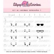 Kit de Carimbos - Expressões 1 (LILIPOP CARIMBOS)