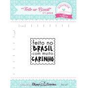 Kit de Carimbos - Feito no Brasil - Scrapbook by Tamy