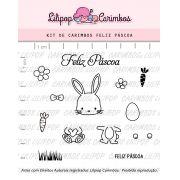 Kit de Carimbos - Feliz Páscoa (LILIPOP CARIMBOS)