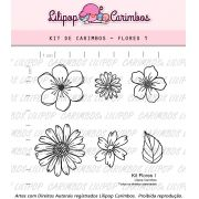 Kit  de Carimbos - Flores 1  LILIPOP CARIMBOS