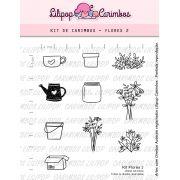 Kit  de Carimbos - Flores 2  LILIPOP CARIMBOS