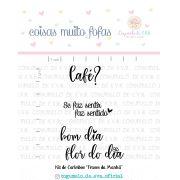 Kit de Carimbos - Frases da Manhã  - Cogumelo de E.V.A.