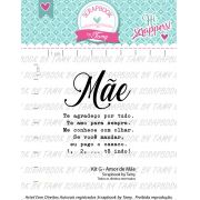 Kit de Carimbos G - Amor de Mãe - Scrapbook by Tamy