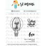 Kit de Carimbos G - Balão Floral - Remoni