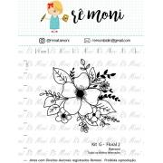Kit de Carimbos G - Floral 2 - Remoni
